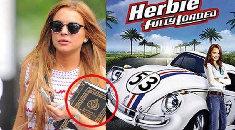 Aktris Seksi Hollywood Lindsay Lohan Tertangkap Kamera Bawa Alquran