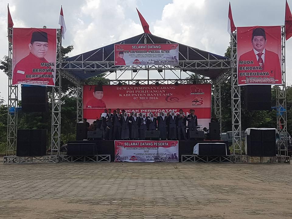 HUT ke -43, DPC PDI Perjuangan Banyuasin Gelar Festival Banteng Music 0