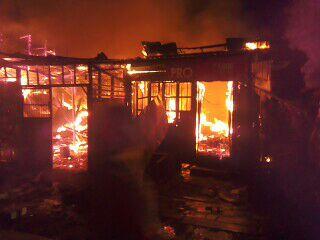 9 Rumah dan Pertokoan di Pagar Alam Habis Terbakar