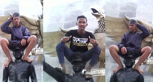 lokasi abg alay duduki patung pahlawan