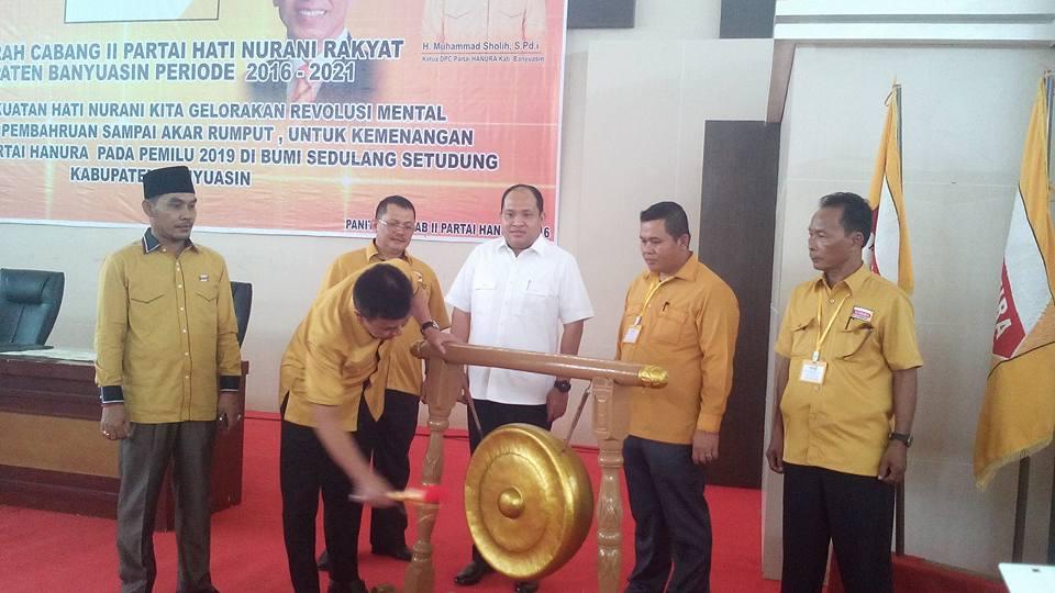 Muhammad Sholih Pimpin Hanura Banyuasin