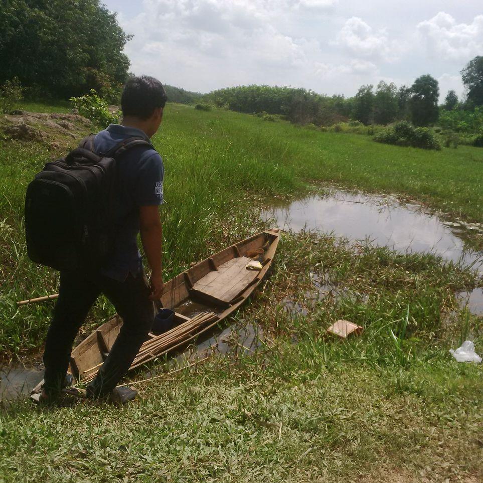 Petani Pulau Harapan Kekurangan Air Karena Sungai Tersumbat
